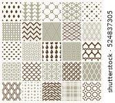 set of vector endless geometric ...   Shutterstock .eps vector #524837305