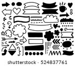 hand drawn vector elements set. ... | Shutterstock .eps vector #524837761