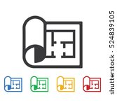 plan icon. construction icons... | Shutterstock .eps vector #524839105