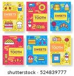 cake stand in shop vector...   Shutterstock .eps vector #524839777