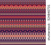 colorful tribal vintage ethnic... | Shutterstock .eps vector #524840731