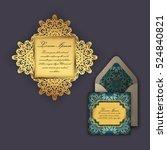 wedding invitation or greeting... | Shutterstock .eps vector #524840821
