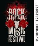 banner poster for festival rock ... | Shutterstock .eps vector #524840917