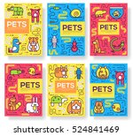 animal vector brochure cards... | Shutterstock .eps vector #524841469
