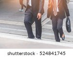 businessman and business woman... | Shutterstock . vector #524841745
