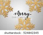 christmas background gray color ... | Shutterstock .eps vector #524842345