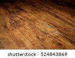 Aged Wood Desk In Dim Light