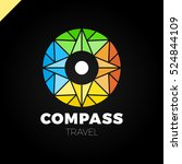 abstract multicolor compass... | Shutterstock .eps vector #524844109