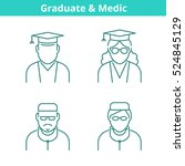 occupations avatar set  doctor  ... | Shutterstock .eps vector #524845129