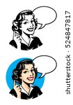 retro mom was pointing to... | Shutterstock .eps vector #524847817