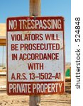 No Trespassing Sign In A...