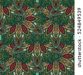 ornate floral seamless texture  ... | Shutterstock .eps vector #524849539