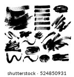set of 20 black ink hand... | Shutterstock .eps vector #524850931