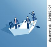 Isometric Business People Are...