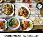 asia food on the table | Shutterstock . vector #524858239