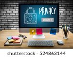 user password register log in   ... | Shutterstock . vector #524863144