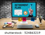 retirement plan savings  senior ... | Shutterstock . vector #524863219