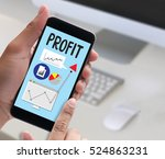 profit growth and improve... | Shutterstock . vector #524863231