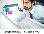 tired and discouraged... | Shutterstock . vector #524865799
