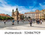prague  czech republic   june... | Shutterstock . vector #524867929