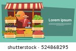 farm market organic eco fruits... | Shutterstock .eps vector #524868295