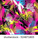 abstract seamless geometric... | Shutterstock .eps vector #524871805