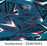 abstract seamless geometric... | Shutterstock .eps vector #524874691