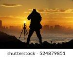 Trekking Man Take Photo With...