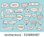 cute speech bubble background | Shutterstock . vector #524880487