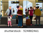 a vector illustration of family ... | Shutterstock .eps vector #524882461