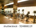 modern fitness center abstract... | Shutterstock . vector #524888119