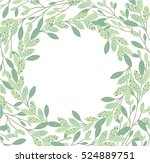 floral frame beautiful vintage... | Shutterstock .eps vector #524889751