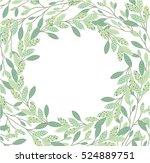 floral frame beautiful vintage... | Shutterstock .eps vector #524889751