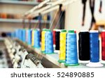 colored textile yarns with... | Shutterstock . vector #524890885