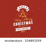 merry christmas and happy new... | Shutterstock .eps vector #524892559