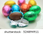a group of foil wrapped... | Shutterstock . vector #524894911