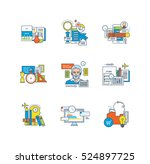support  education  research ... | Shutterstock .eps vector #524897725