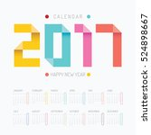 2017 calendar colorful happy... | Shutterstock .eps vector #524898667