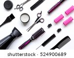 combs and hairdresser tools on... | Shutterstock . vector #524900689