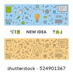 line design web concept and... | Shutterstock .eps vector #524901367