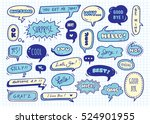cute speech bubble doodle set | Shutterstock .eps vector #524901955