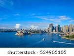 sydney harbor from the bridge | Shutterstock . vector #524905105