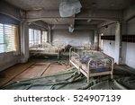 Empty Ward At Abandoned Hospital