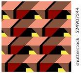 trendy geometric elements... | Shutterstock .eps vector #524907244