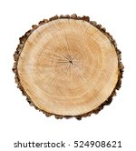 Wooden Stump Isolated On The...
