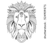 vector illustration of lion... | Shutterstock .eps vector #524909371