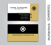 business vector card creative... | Shutterstock .eps vector #524909551
