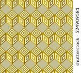 vector geometric pattern design ... | Shutterstock .eps vector #524909581