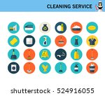cleaning service concept flat... | Shutterstock .eps vector #524916055