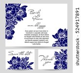 vintage delicate invitation... | Shutterstock .eps vector #524917891